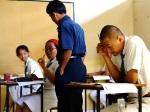 siswa santi rama sedang belajar