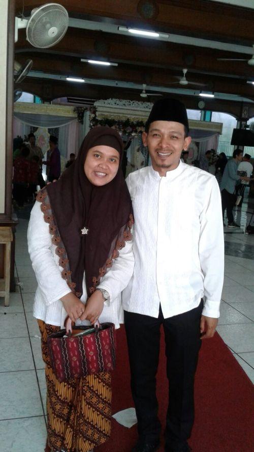 Jilbab coklat bordir dari Mbak IIm Semarang